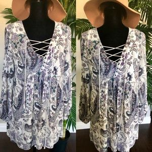 Free people paisley tunic top✨